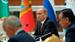 Владимир Путин на заседании Совета глав государств СНГ в Ашхабаде