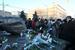 """Участники """"Марша свободы"""" у Соловецкого камня на Лубянской площади"""