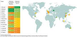 Динамика цен на рынках элитного жилья (карта)