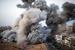 Дым после взрыва израильских ракет в секторе Газы