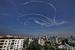Следы в небе над Газой от самолетов израильской военной авиации