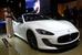 Maserati GranCabrio MC                                          Итальянский производитель спорткаров Maserati, принадлежащий Fiat, представляет на автосалоне в Париже кабриолет GranCabrio MC. Он станет самой крупной открытой машиной марки (на 48 мм длиннее GranCabrio и GranCabrio Sport), и сознан на основе купе GranTurismo MC Stradale. Люксовый кабриолет будет оснащаться атмосферным 4,7 л мотором V8 (460 л.с., 520 Нм) в паре с автоматической шестиступенчатой коробкой передач ZF (MC Auto Shift). С ними кабриолет способен набрать 100 км/ч за 4,9 с и разогнаться до максимальной скорости 289 км/ч.
