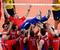 Волейбол. Мужчины. Золото                                          Мужская сборная России по волейболу в напряженном поединке победила команду Бразилии и выиграла золотые медали Олимпиады