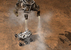 Компьютерная модель момента посадки космического аппарата Curiosity на Марс