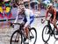 Велогонки. Шоссе. Женщины. Групповая гонка. Бронза                                          Ольга Забелинская (в центре) завоевала бронзовую медаль в групповой велогонке на 140 км