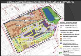 Схема существующего состояния и использования территории КСРЗ, источник Москомстройинвест
