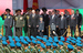 Президент Белоруссии Александр Лукашенко с сыном Николаем на трибуне во время парада