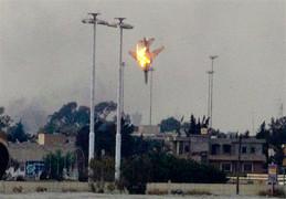 Сбитый над Бенгази самолет за секунду до встречи с землей
