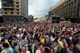 "Участники акции оппозиции ""Марш миллионов"" на проспекте Сахарова"