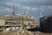 """На строительстве олимпийского Стадиона """"Фишт"""", расположенного в Олимпийском парке в Сочи."""