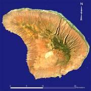 Космический снимок острова Ланаи (NASA)