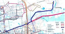 Два варианта схемы прохождения скоростного трамвая, источник - префектура ВАО