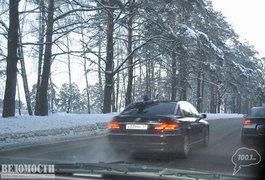 """Автомобиль BMW 7 серии госномер А039МР и раньше застигали на """"встречке"""""""