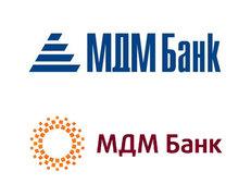 Старый (вверху) и новый логотипы МДМ-банка