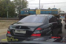 Автомобиль Баркова на встречной полосе (до аварии)