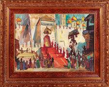 За три года Александр Струков стал обладателем коллекции, которая насчитывает уже более 1200 работ. На фото - эскиз Ф. Федоровского копере «Борис Годунов»