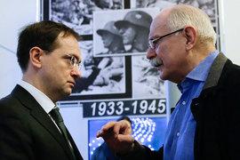 Никите Михалкову (на фото справа) удалось убедить в своей идее только Владимира Мединского