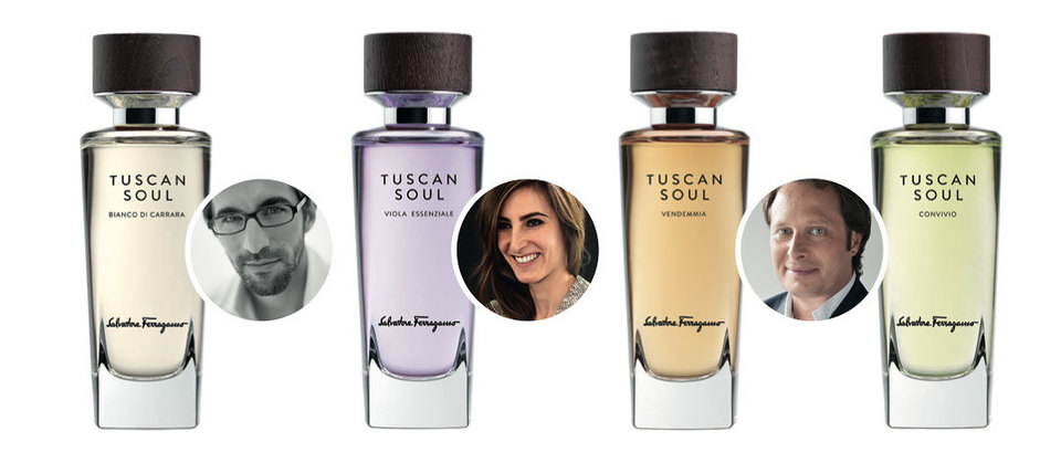 Tuscan Soul Bianco di Carrara от парфюмера Лукаса Сьюзака; Viola Essenziale от Сони Констант; ароматы Vendemmia и Convivio иих авторФабрис Пеллегрин