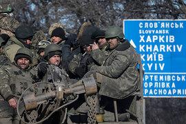 Украинские военные покинули Дебальцево на той технике, которая завелась