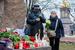 Цветы у Соловецкого камня - памятника жертвам политических репрессий в Санкт-Петербрге