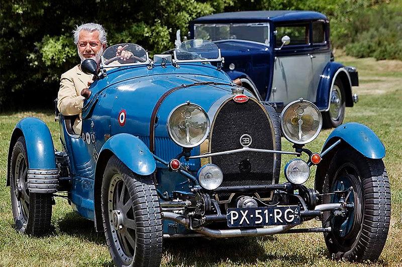Col d'Orcia стала местом проведения фестиваля исторических автомобилей Bugatti