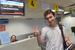 Лоукостер «Аэрофлота»  - компания «Добролет» - начал свою деятельность с перелетов в Симферополь 10 июня, однако уже 4 августа приостановил их из-за веденных против него санкций ЕС. На фото пассажир первого рейса авиакомпании «Добролет» в Крым.