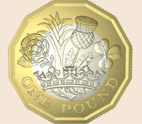 Новый дизайн монеты в 1 фунт Дэвида Пирса
