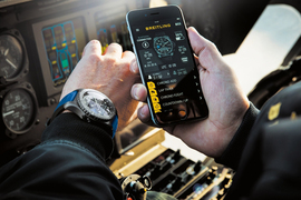 В Базеле многие производители классических часов представили свои умные устройства. На фото: часы Breitling B55 Connected.