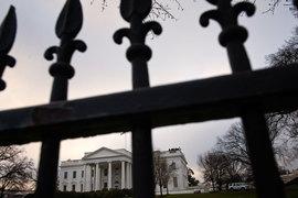 У забора Белого дома, Вашингтон, США
