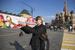 Подготовка к торжествам на Красной площади в Москве