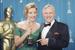 Звездная клиентка Giorgio Armani - Эмма Томпсон (с Энтони Хопкинсом) на Оскаре, 1993 г.