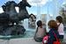 Фонтан «Гейзер» со скульптурой четырех бронзовых коней - центральный в комплексе фонтанов на Манежной площади. Создан Зурабом Церетели. Кони символизируют Зиму, Весну, Лето и Осень