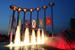 Фонтан «Музыка славы» спроектирован к 60-й годовщине победы во Второй мировой войне. Находится на площади Славы, у станции метро Кузьминки. Один из самых больших фонтанов в Европе. Водяной поток может подниматься на высоту в 21 метр, напоминая о Салюте Победы. Вечером фонтан «загорается» изнутри. Подсветку сооружения обеспечивают более 400 светодиодных светильников