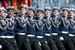 Курсанты Нахимовского училища во время военного парада на Красной площади