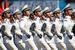 Военнослужащие Народно-освободительной армии Китая во время парада на Красной площади