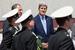Министр иностранных дел России Сергей Лавров во время встречи с госсекретарем США Джоном Керри в Сочи