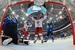 Действующий чемпион мира до 17 мая - сборная России. На фото: игрок сборной России Егор Яковлев (в центре) и вратарь сборной Финляндии Пекка Ринне (слева) в финальном матче