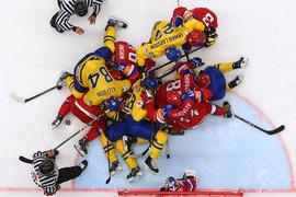Сборная России по хоккею одолела сборную Швеции