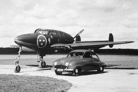 Автомобиль и самолет Saab