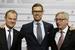 Украинский конфликт и действия России не являются центральной темой обсуждения, заявил 22 мая премьер Финляндии Александр Стубб (на фото в центре), передал «Интерфакс»