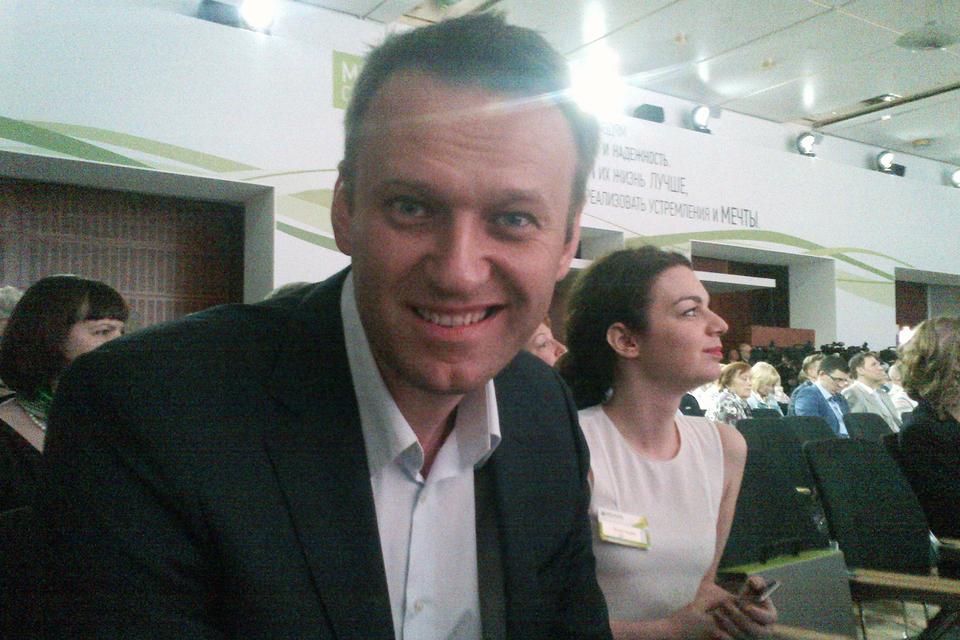Алексей Навальный на собрании акционеров Сбербанка