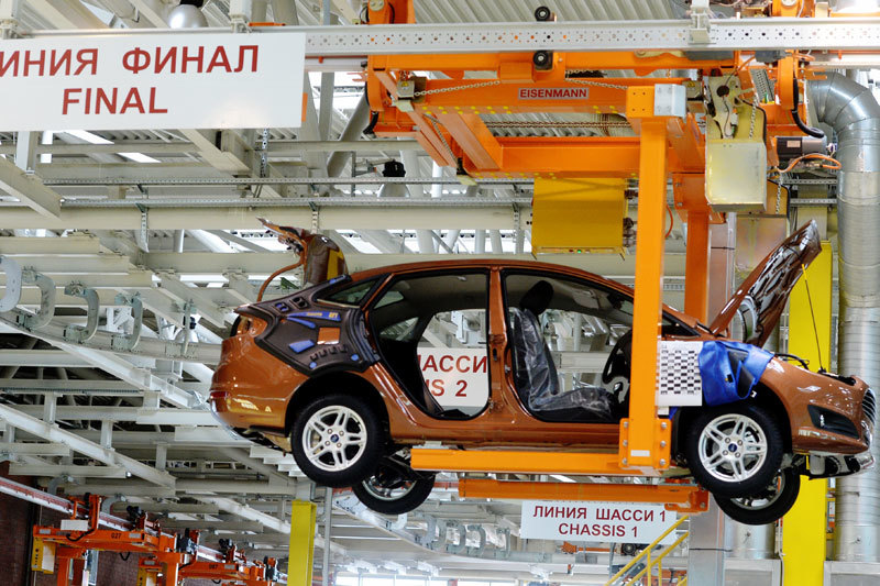 В среду на заводе Ford Sollers в Набережных Челнах началось производство седана и хетчбэка Ford Fiesta