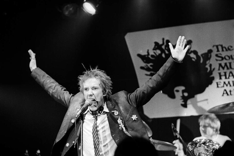 Вокалист Sex Pistols  Джонни Роттен, 1978 год