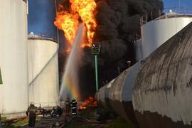 Пожар на нефтебазе «БРСМ-нафты» под Киевом