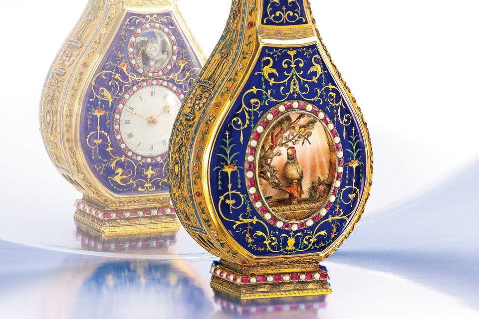 Антикварные часы Jaquet Droz Singing Bird Scent Flask проданы на часовом аукционе Sotheby's за $ 2,530 млн