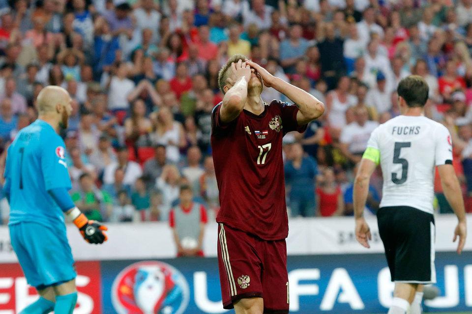 Сборная России по футболу уступила австрийцам в принципиальном матче отборочного турнира чемпионата Европы 2016 г. со счетом 0:1