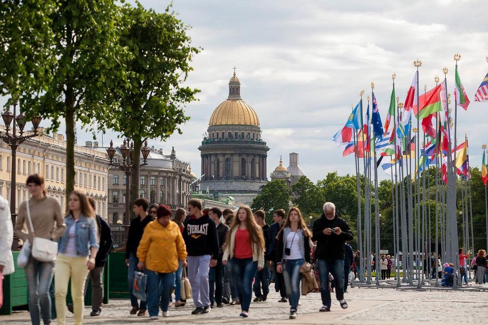 В прошлом году в Петербург приехало 2,8 млн иностранных туристов