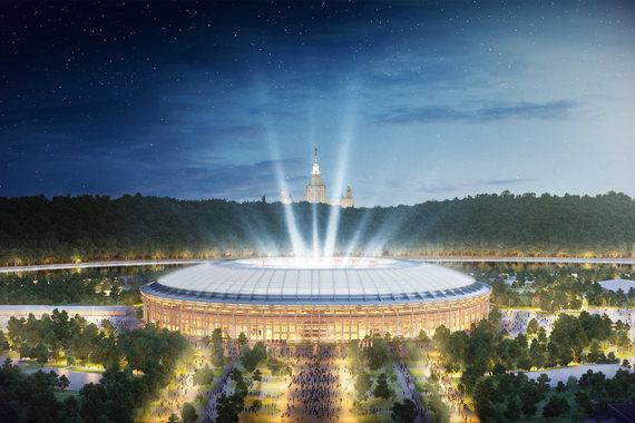 Стадион «Лужники» в Москве примет матч открытия, полуфинал и финальный матч. Его вместимость после реконструкции составит 81 000 мест. Работы, оцененные в 22 млрд руб., проводятся на бюджетные средства. Стадион должен быть готов не позже февраля 2017 г.