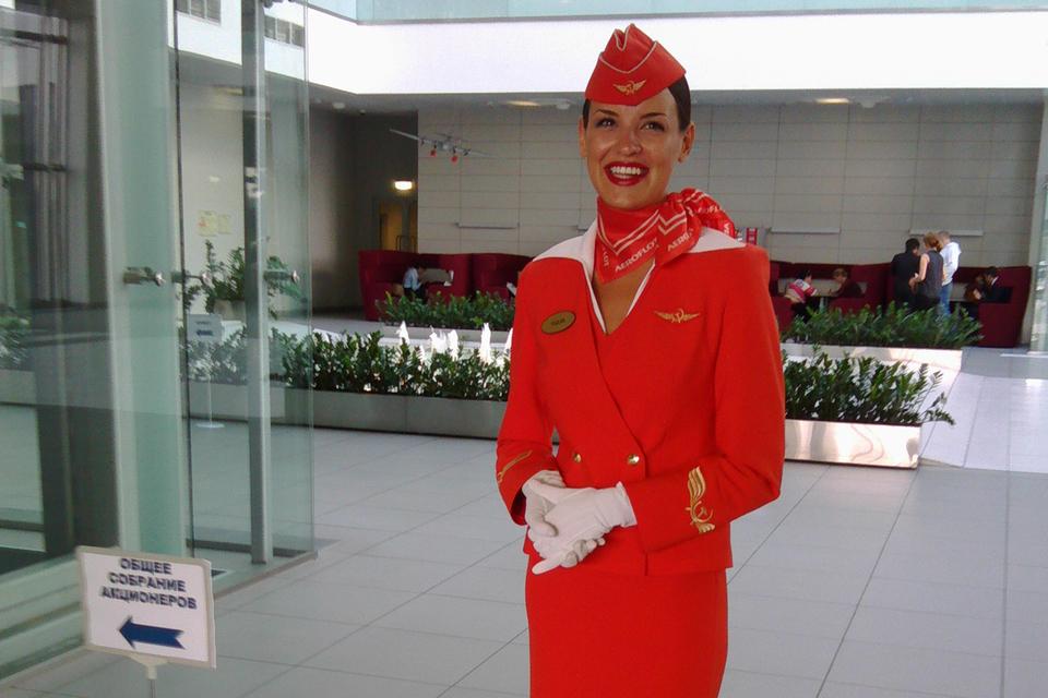 Акционеров в офисе Аэрофлота встречали стюардессы