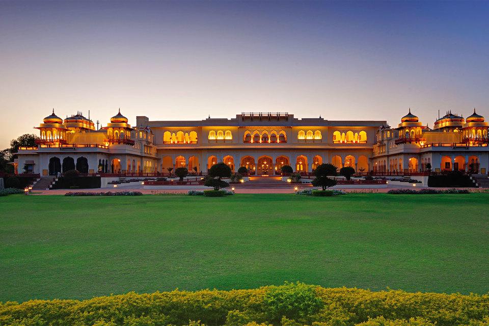 Rambagh Palace в Джайпуре - первый индийский отель-дворец